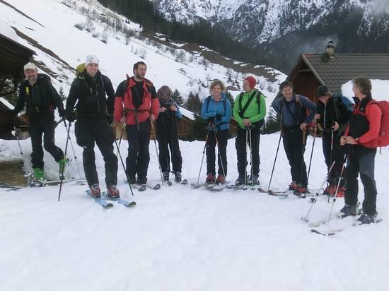Unser Skitourengruppe im Namloser Tal