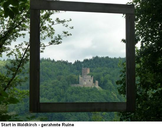 Zweitälersteig - Start in Waldkirch - Ruine Kastelburg
