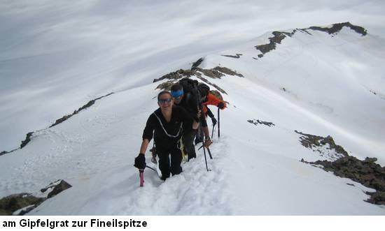 Ötztal - Gipfelgrat zur Fineilspitze