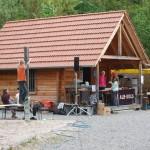 Haus an der Kletteranlage des DAV Rottenburg