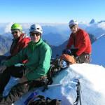Gipfelrast-auf-der-Weissen-Frau,-Jochen,-Bernd,-Hermann-(von-links-nach-rechts)