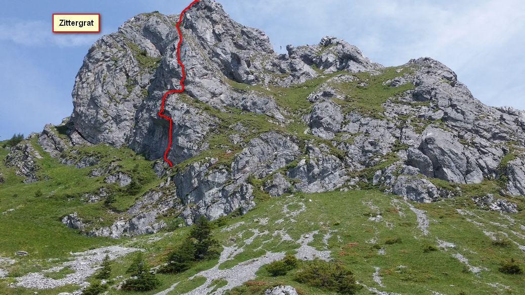 Klettersteig Zittergrat : Brunnistöckli zittergrat und rigidalstock alpenverein
