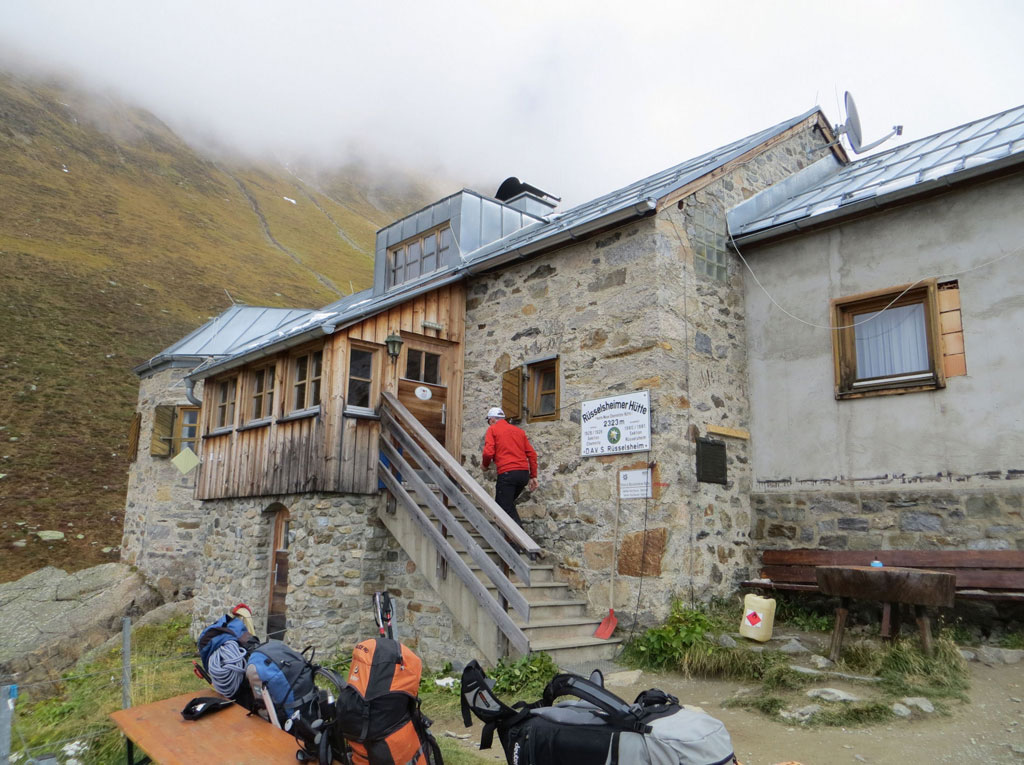 Die Rüsselsheimer Hütte im Pitztal