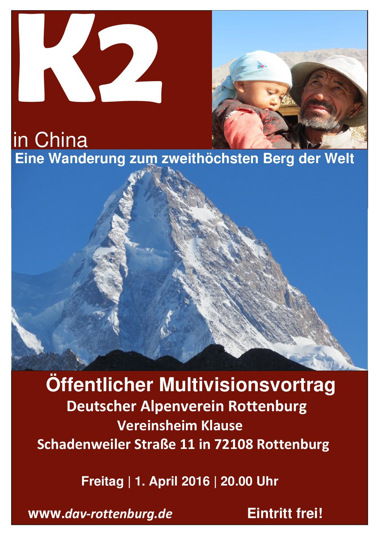 Einladungsplakat K2 China DAV Rottenburg-001