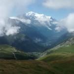 erster Blick auf den Montblanc