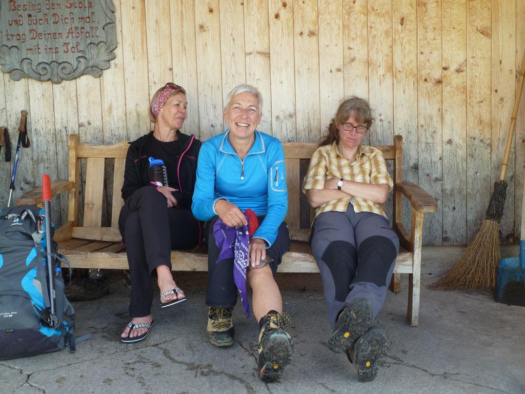 Uschi, Birgit und Rossi