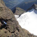 Karl-Heinz klettert auf den Nordgipfel
