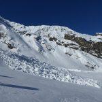 Großes Schneebrett am Aufstieg zur Cime Ent-relor