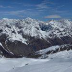Blick übers Val di Rhêmes zur Montblanc-gruppe